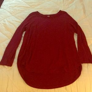 Dark red soft tunic